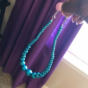 Jewelry - Sheer blue beaded necklace